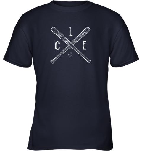 tm1y vintage cleveland baseball shirt cleveland ohio youth t shirt 26 front navy