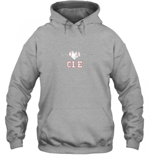 tkbz cleveland baseball shirt cleveland ohio heart beat cle hoodie 23 front sport grey