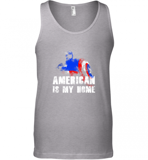 America Is My Home Captain America 4th Of July Tank Top