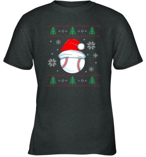 8yuz ugly christmas baseball shirt boys kids ball santa pajama youth t shirt 26 front dark heather