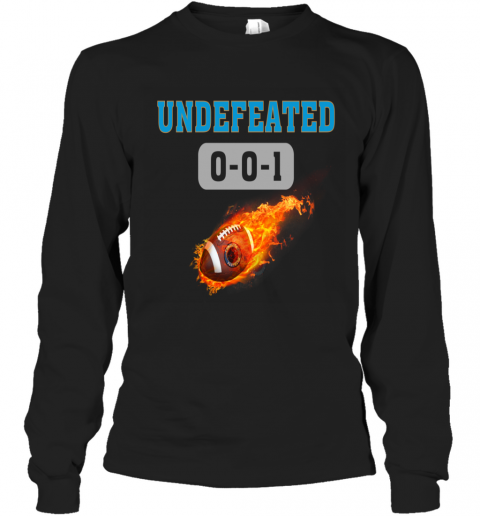 NFL CAROLINA PANTHERS Logo Undefeated Long Sleeve T-Shirt
