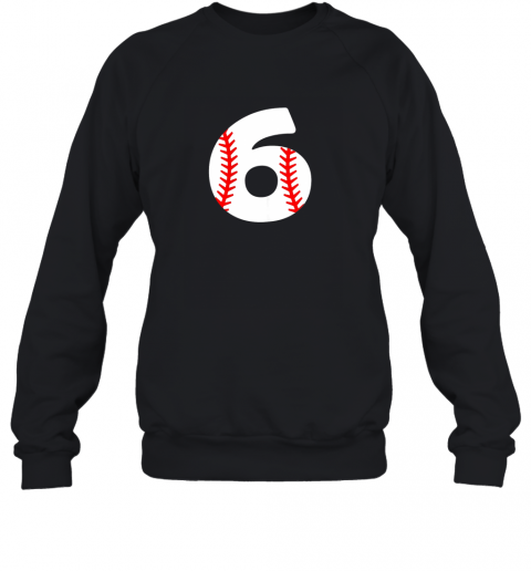 Sixth Birthday 6th BASEBALL Shirt  Number 6 Born in 2013 Sweatshirt