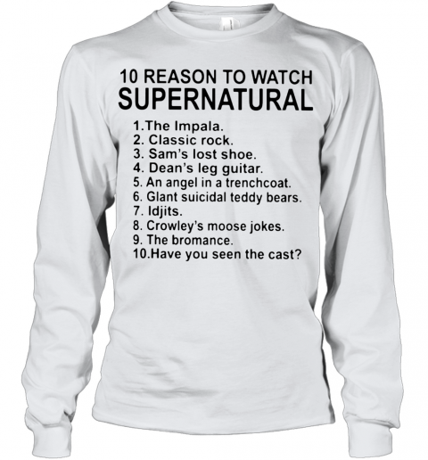 10 Reason To Watch Supernatural Youth Long Sleeve