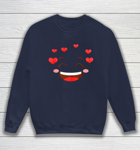 Kids Girls Valentine T Shirt Many Hearts Emoji Design Sweatshirt 2
