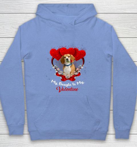 My Beagle is My Valentine Day 2019 Dog Hoodie 8