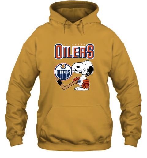ubp1 edmonton oilers ice hockey broken teeth snoopy nhl shirt hoodie 23 front gold