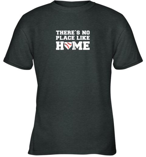 lfbp there39 s no place like home baseball shirt kids baseball tee youth t shirt 26 front dark heather