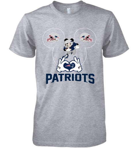 yeyk i love the patriots mickey mouse new england patriots premium guys tee 5 front heather grey
