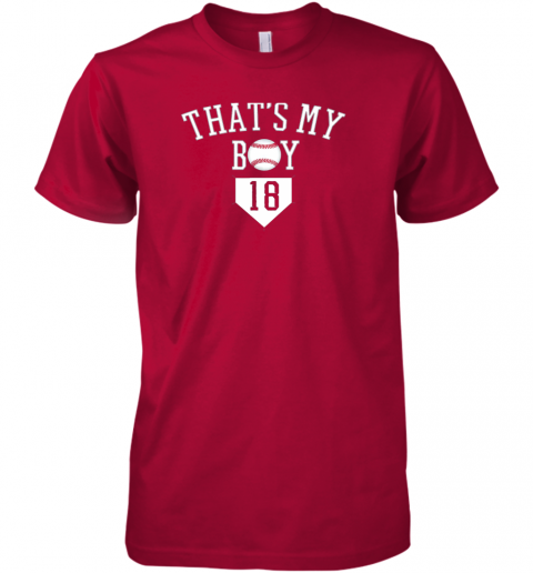 ulp5 that39 s my boy 18 baseball number 18 jersey baseball mom dad premium guys tee 5 front red