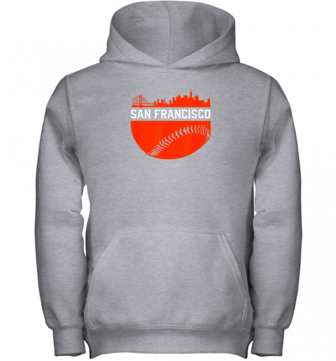 mh3j san francisco baseball vintage sf the city skyline gift youth hoodie 43 front sport grey