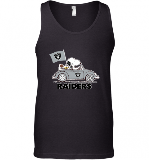 Snoopy And Woodstock Ride The Oakland Raiders Car Tank Top