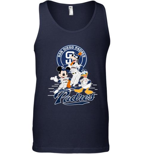 San Diego Padres Mickey Donald And Goofy Baseball Tank Top