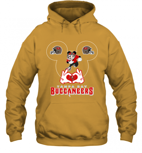 mg4g i love the buccaneers mickey mouse tampa bay buccaneers s hoodie 23 front gold