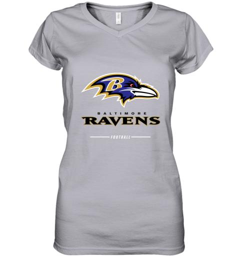 9pfj mens baltimore ravens nfl pro line black team lockup t shirt women v neck t shirt 39 front sport grey