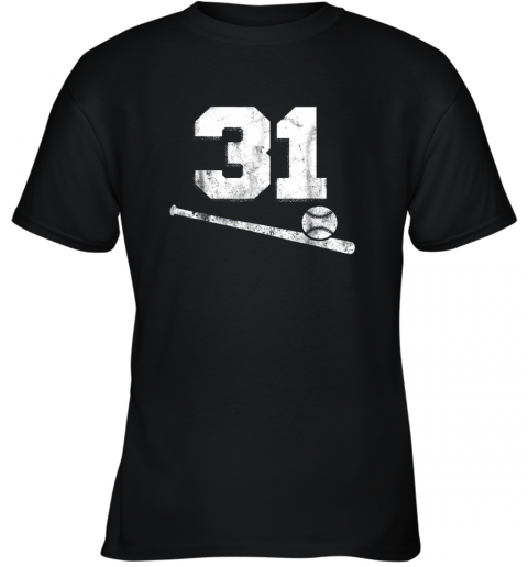 Vintage Baseball Jersey Number 31 Shirt Player Number Youth T-Shirt