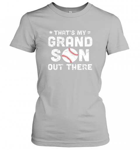 jt7o grandma that39 s my grandson out there baseball ladies t shirt 20 front sport grey