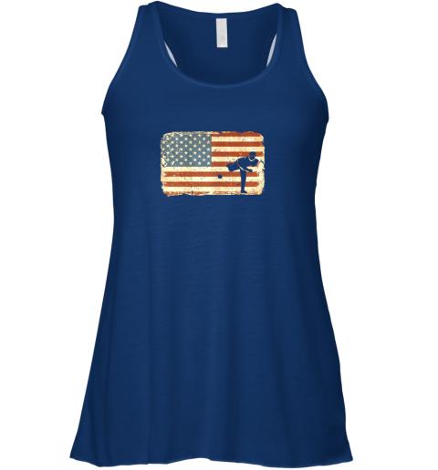 3co3 vintage baseball pitcher shirt american flag flowy tank 32 front true royal