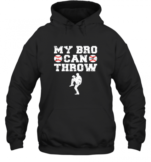 Kids Cute Baseball Brother Sister Funny Shirt Cool Gift Pitcher Hoodie