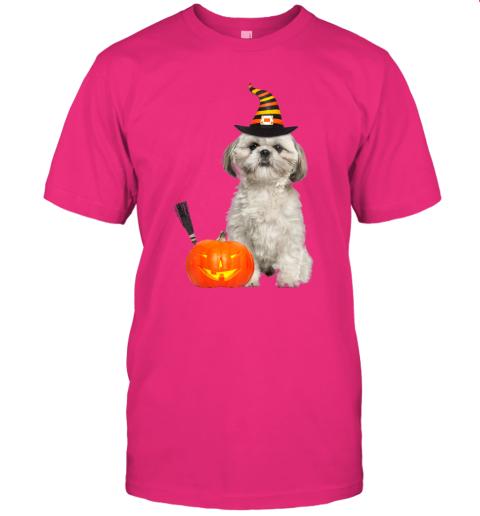 Shih Tzu Witch Hat Halloween Dog Costume T-Shirt