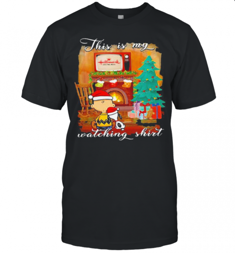 Charlie Brown And Snoopy This Is My Watching Ugly Christmas Unisex Jersey Tee