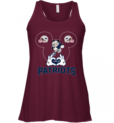 2exs i love the patriots mickey mouse new england patriots flowy tank 32 front maroon