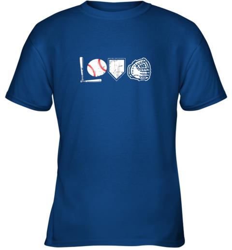 hqd1 i love baseball baseball heart youth t shirt 26 front royal