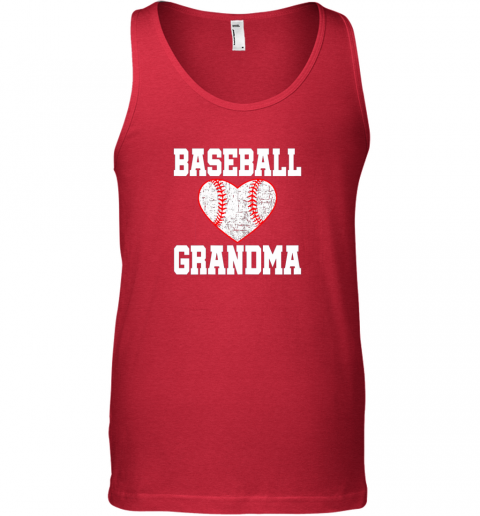sfxs vintage baseball grandma funny gift unisex tank 17 front red
