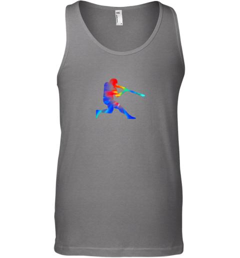 6c5k tie dye baseball batter shirt retro player coach boys gifts unisex tank 17 front graphite heather