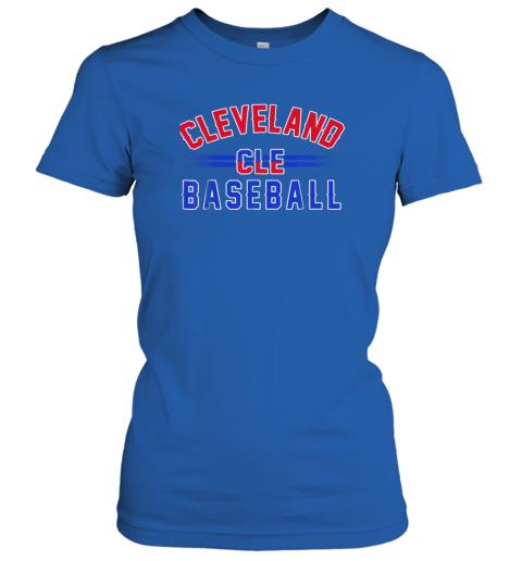 6xkc cleveland cle baseball ladies t shirt 20 front royal