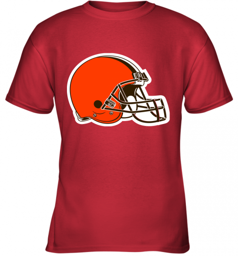 iozq cleveland browns nfl pro line by fanatics branded brown victory youth t shirt 26 front red