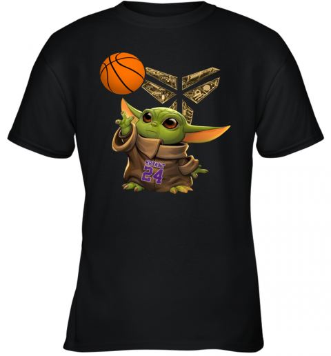Ln8k kobe bryant baby yoda black mamba basketball shirt youth t shirt 26 front black 480px