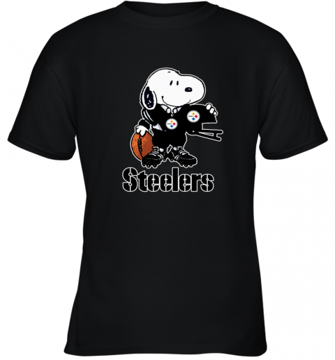 Snoopy A Strong And Proud Pittsburgh Steelers NFL Youth T-Shirt