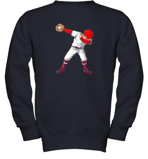 nlps dabbing baseball t shirt funny dab dance shirts boys girls youth sweatshirt 47 front navy