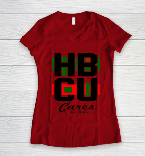 HBCU Cares College University Graduation Gift Black School Women's V-Neck T-Shirt 6