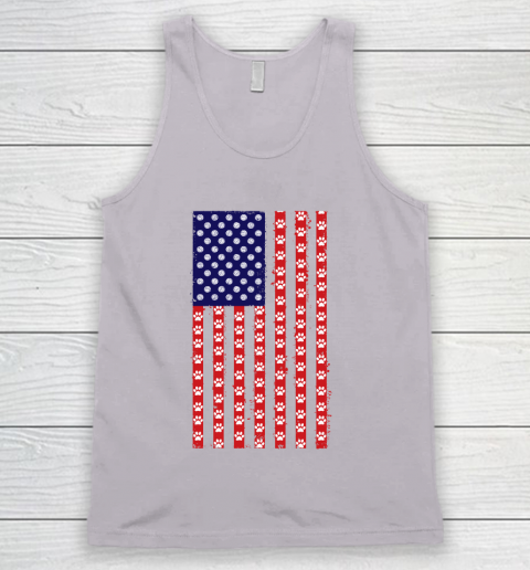 Volleyball Dog Lover American Flag Tank Top 3