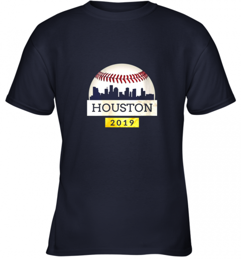 qxlf houston baseball shirt 2019 astro skyline on giant ball youth t shirt 26 front navy