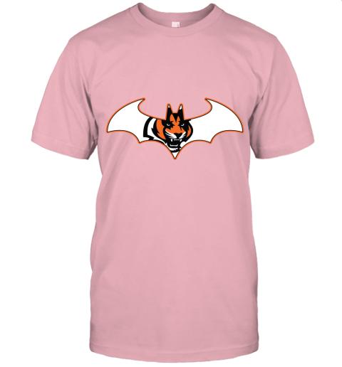 rxz3 we are the cincinnati bengals batman nfl mashup jersey t shirt 60 front pink