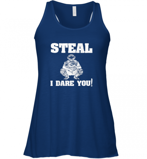 uw4z kids baseball catcher gift funny youth shirt steal i dare you33 flowy tank 32 front true royal