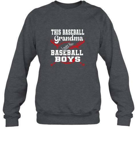 3szm this baseball grandma loves her baseball boys sweatshirt 35 front dark heather