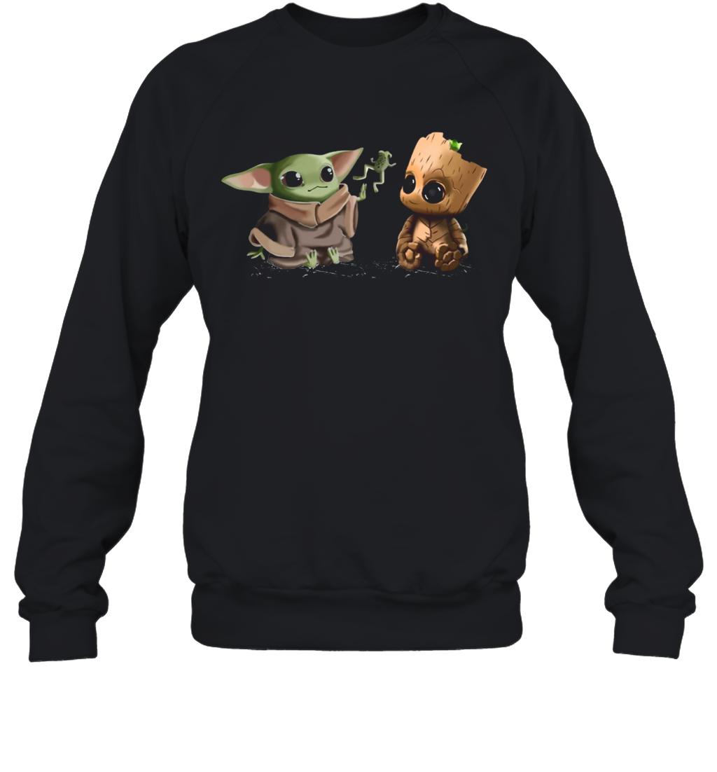 Baby Yoda Frog And Groot Sweatshirt