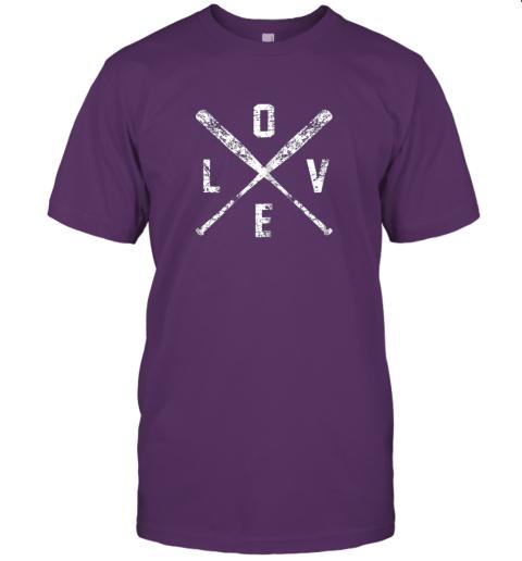 jzyv love baseball bats shirt baseball mom softball dad gift jersey t shirt 60 front team purple