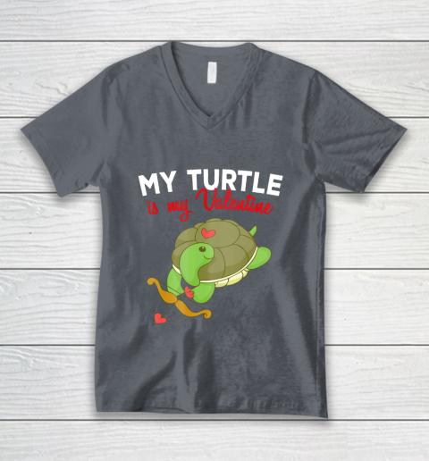 Turtle Valentine T Shirt Sea Turtle Cupid Valentines Day V-Neck T-Shirt 4