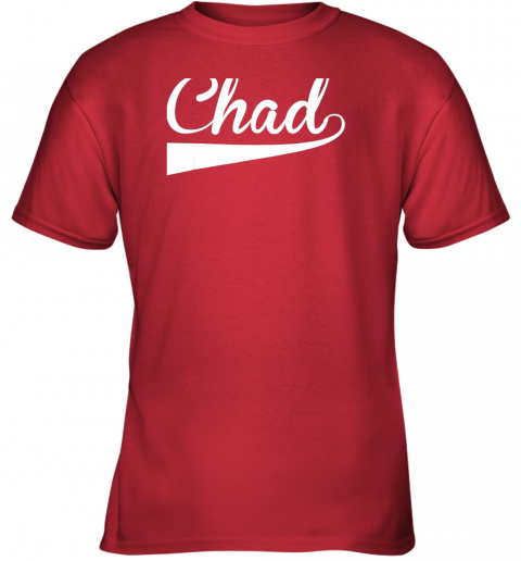 fyvn chad country name baseball softball styled youth t shirt 26 front red
