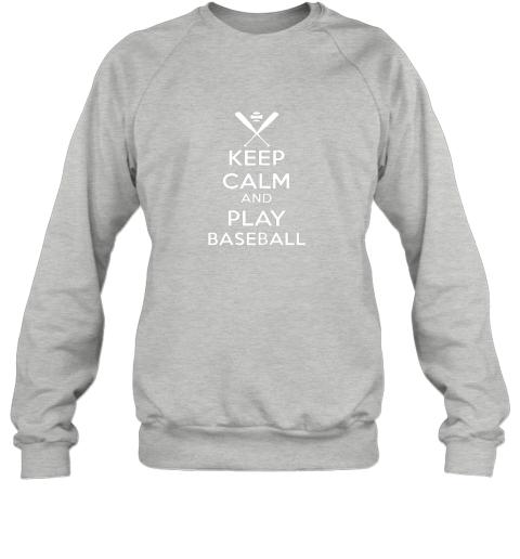 vnuz keep calm and play baseball sweatshirt 35 front sport grey