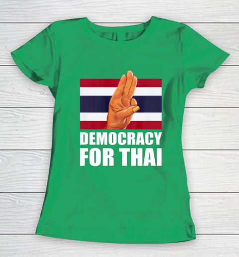 Democracy for Thailand Free Thai Protest Bangkok Support Women's T-Shirt 5
