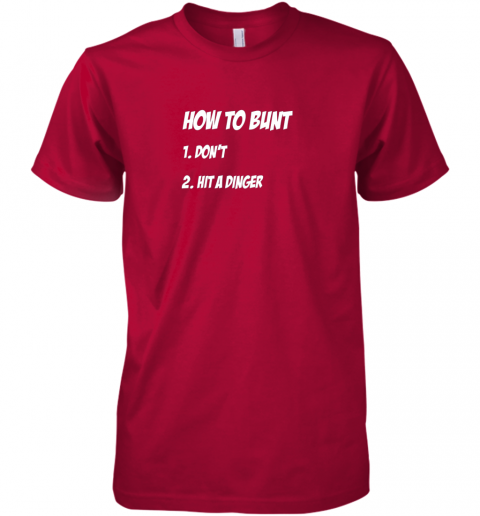 lnyt how to bunt 1 don39 t 2 hit a dinger baseball softball premium guys tee 5 front red