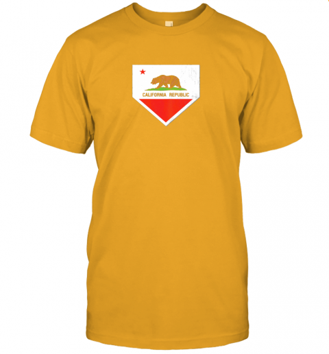 9qsz vintage baseball home plate with california state flag jersey t shirt 60 front gold