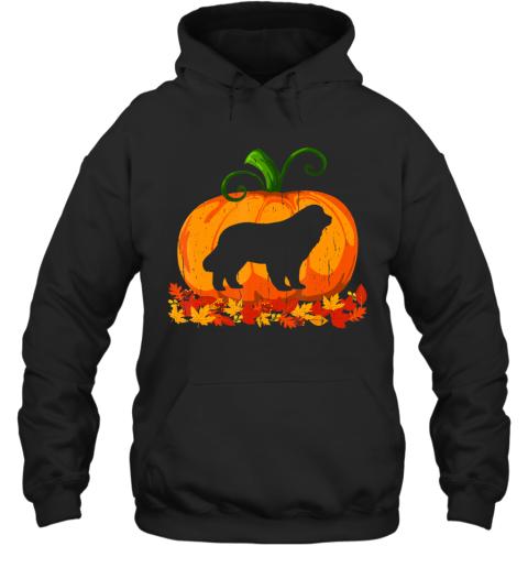 Funny Halloween Costume Newfoundland Dog Pumpkin Hoodie