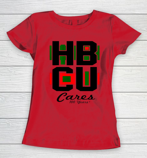 HBCU Cares College University Graduation Gift Black School Women's T-Shirt 7