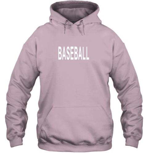 llvz shirt that says baseball hoodie 23 front light pink